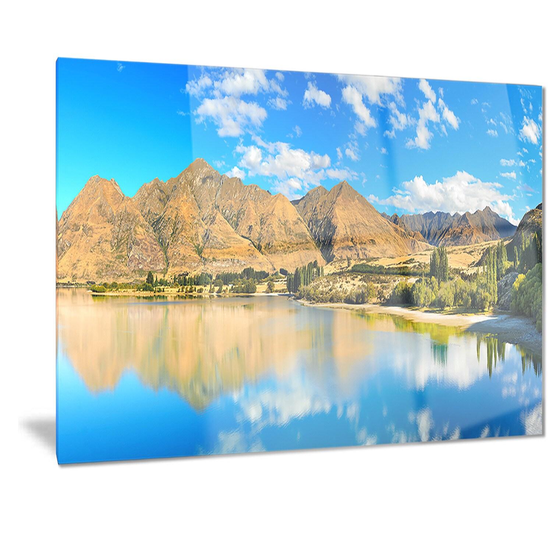 Designart \'Wanaka Lake\' Landscape Photography Metal Wall Art - Free ...