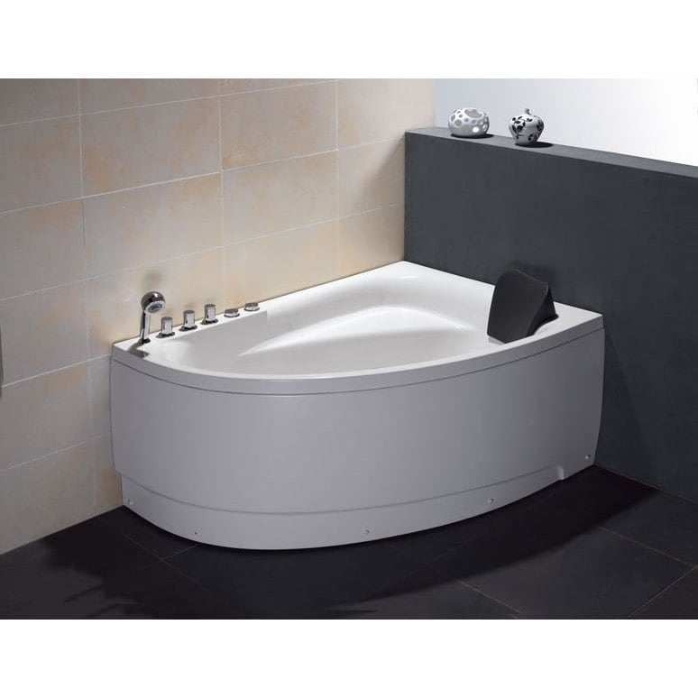 Shop EAGO AM161-L White Acrylic 5-foot Whirlpool Bath Tub With Left ...