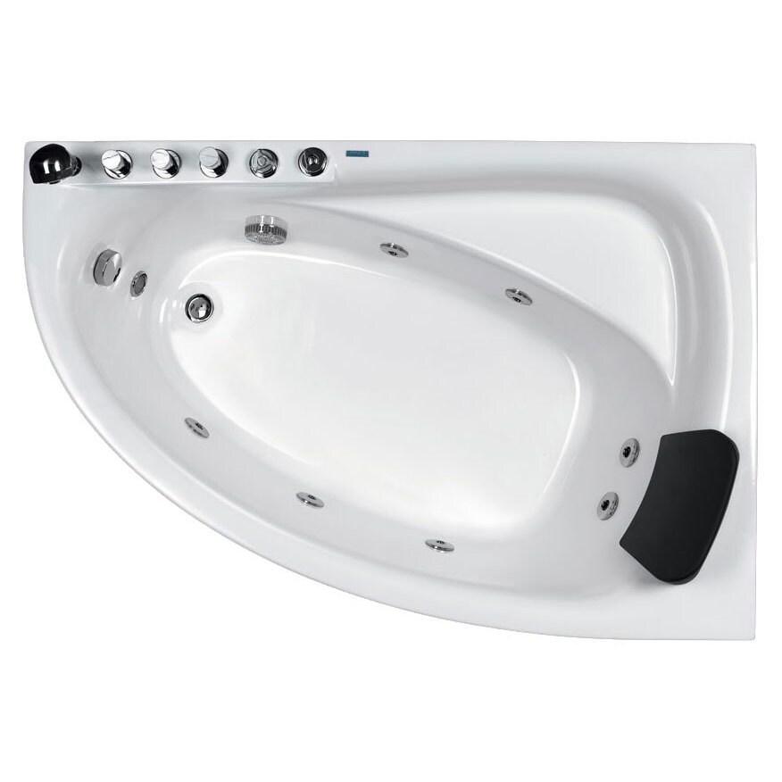 Shop EAGO AM161-L White Acrylic 5-foot Whirlpool Bath Tub With Left ...