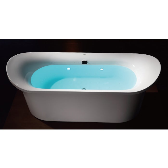 White Acrylic Free-standing Air Bubble Bathtub - Free Shipping Today ...
