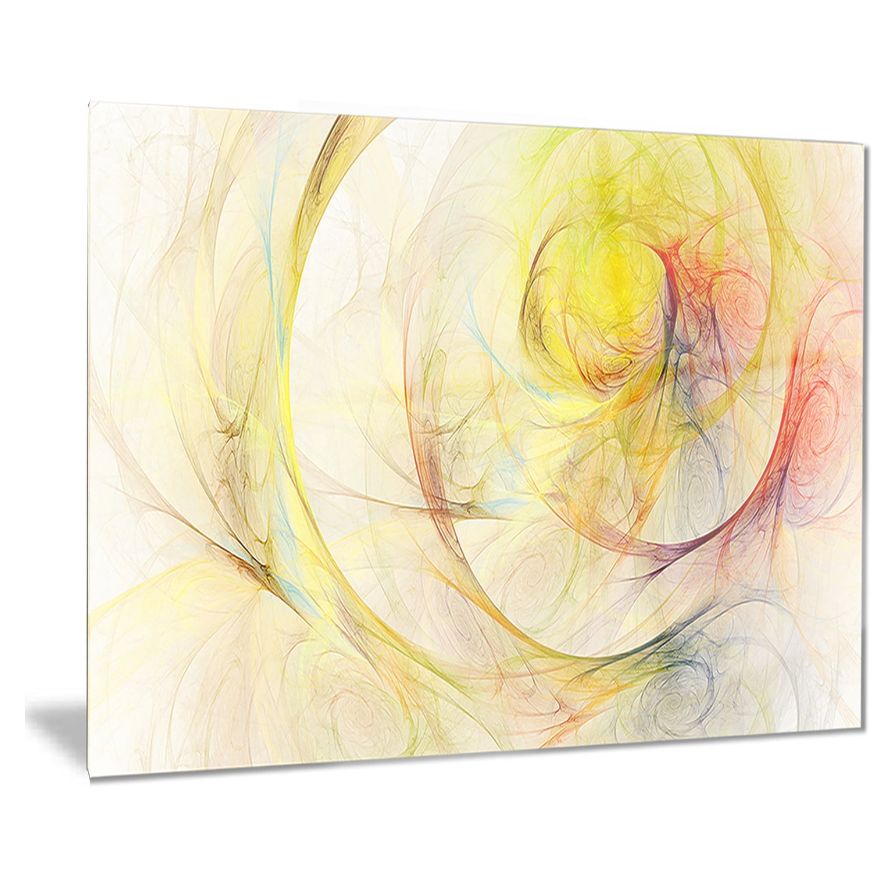 Shop Designart \'Yellow Storm Sky\' Abstract Digital Art Metal Wall ...