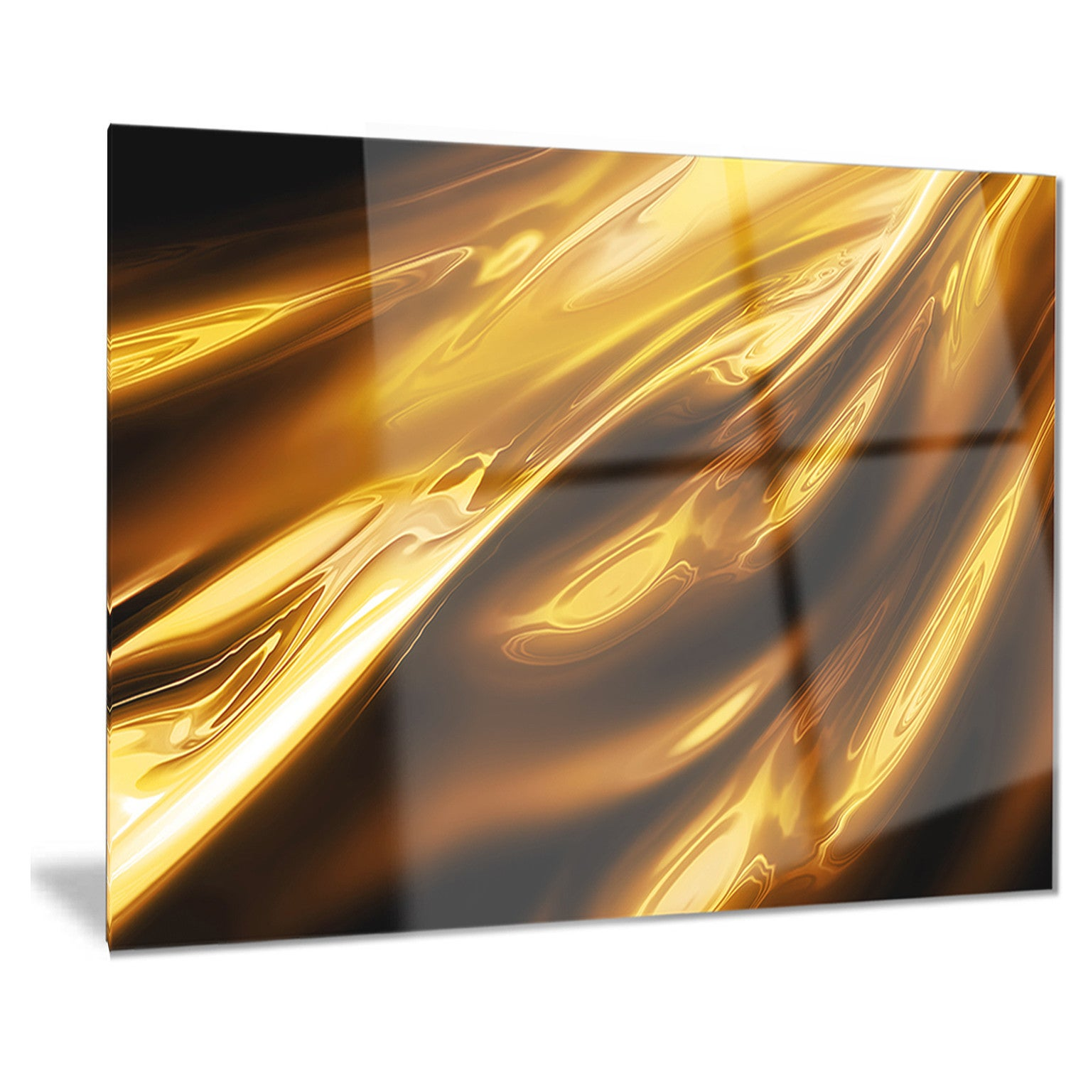 Designart \'Liquid Gold Texture Pattern\' Abstract Digital Art Metal ...