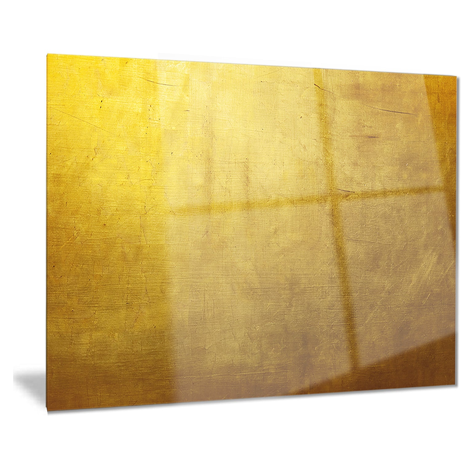 Designart \'Gold Texture Wallpaper\' Abstract Digital Art Metal Wall ...