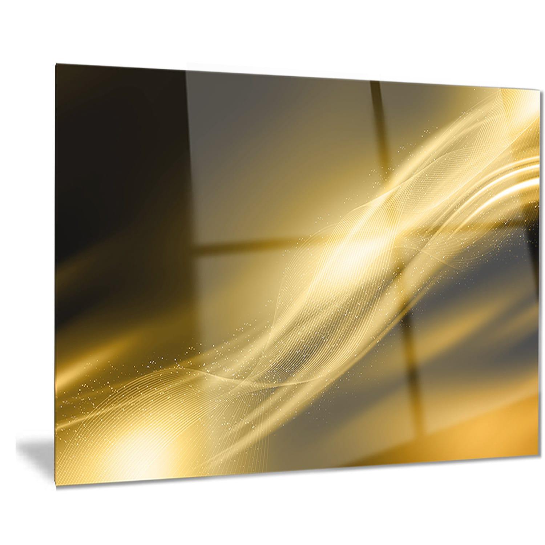 Designart \'Sparkle Gold Texture Pattern\' Abstract Digital Art Metal ...