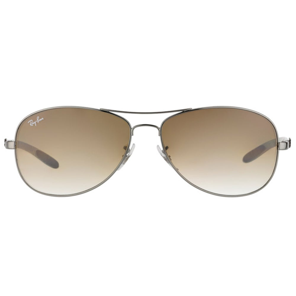 61d90e7973 Shop Ray-Ban RB 8301 004 51 Carbon Fiber Cockpit Gunmetal Metal Aviator  Brown Gradient Lens Sunglasses - Free Shipping Today - Overstock - 11871192
