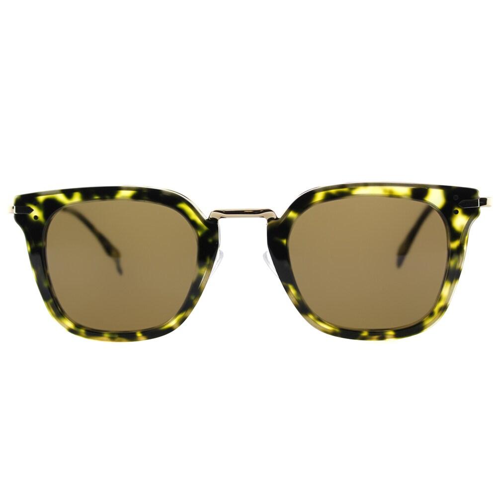dd2066caf50 Shop Celine CL 41402 J1L Green Havana Gold Plastic Square Brown Lens  Sunglasses - Free Shipping Today - Overstock - 11871381
