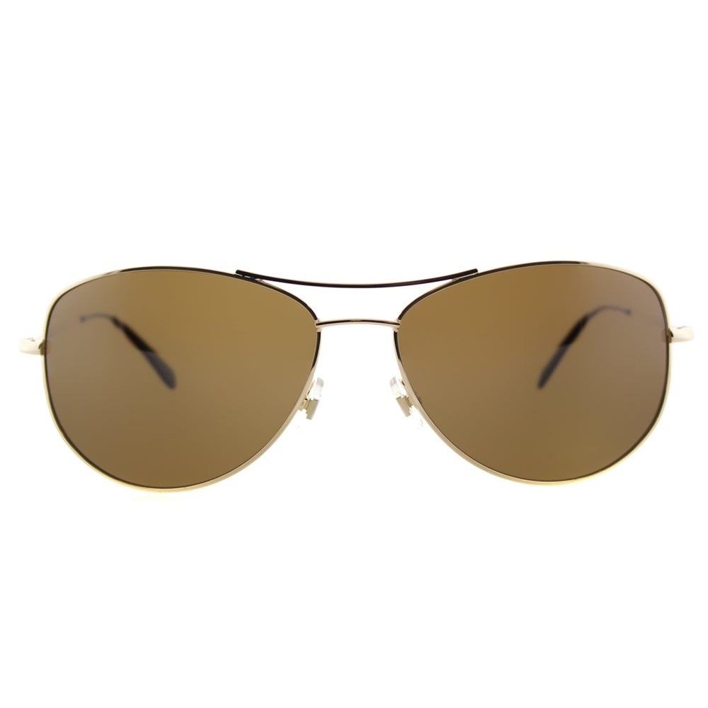 f85a0bc7a994 Shop Kate Spade KS Ally P/S 3YGP Gold Metal Aviator Brown Polarized Lens  Sunglasses - Free Shipping Today - Overstock - 11871410