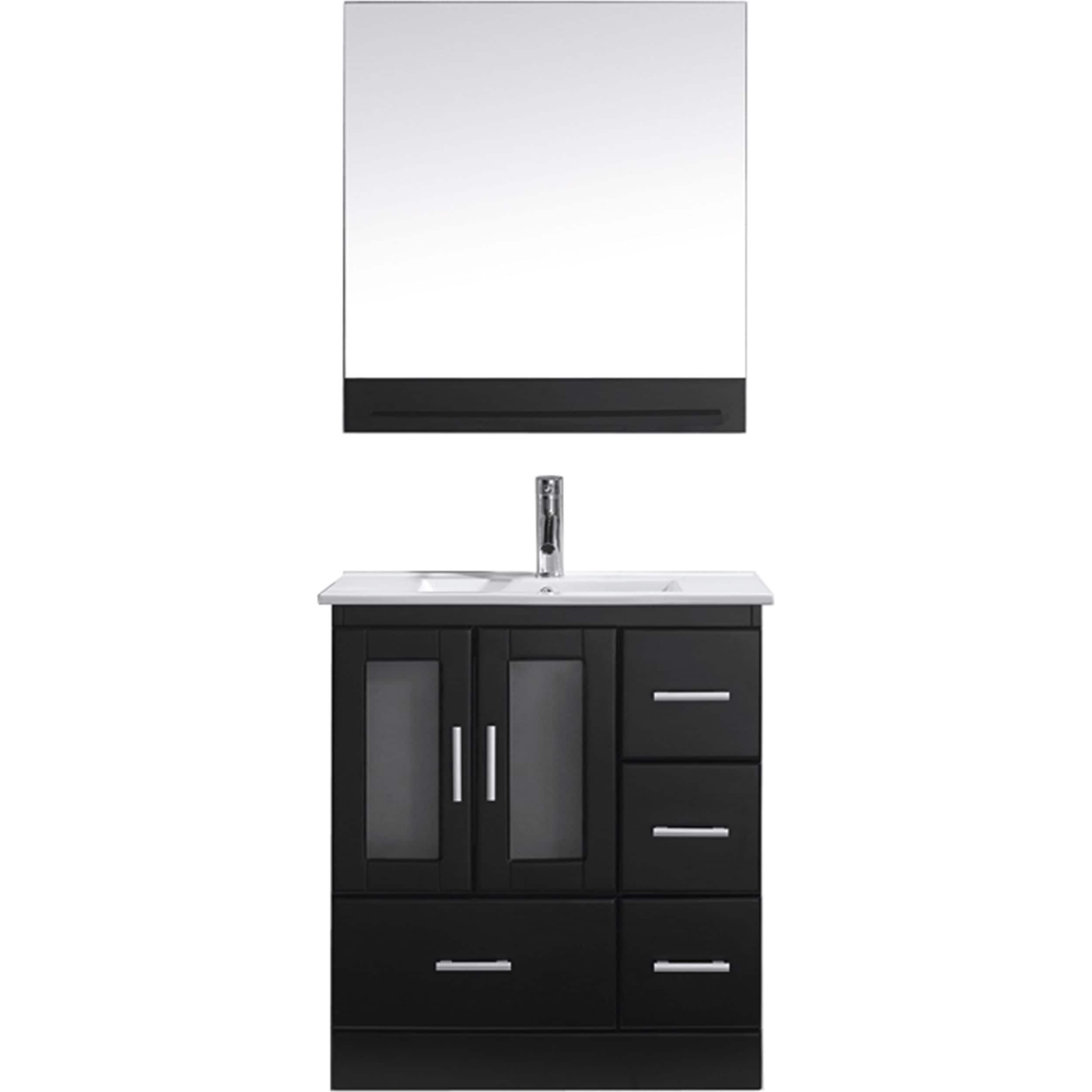 Shop Virtu USA Zola 30-inch Single Bathroom Vanity Set with Faucet ...