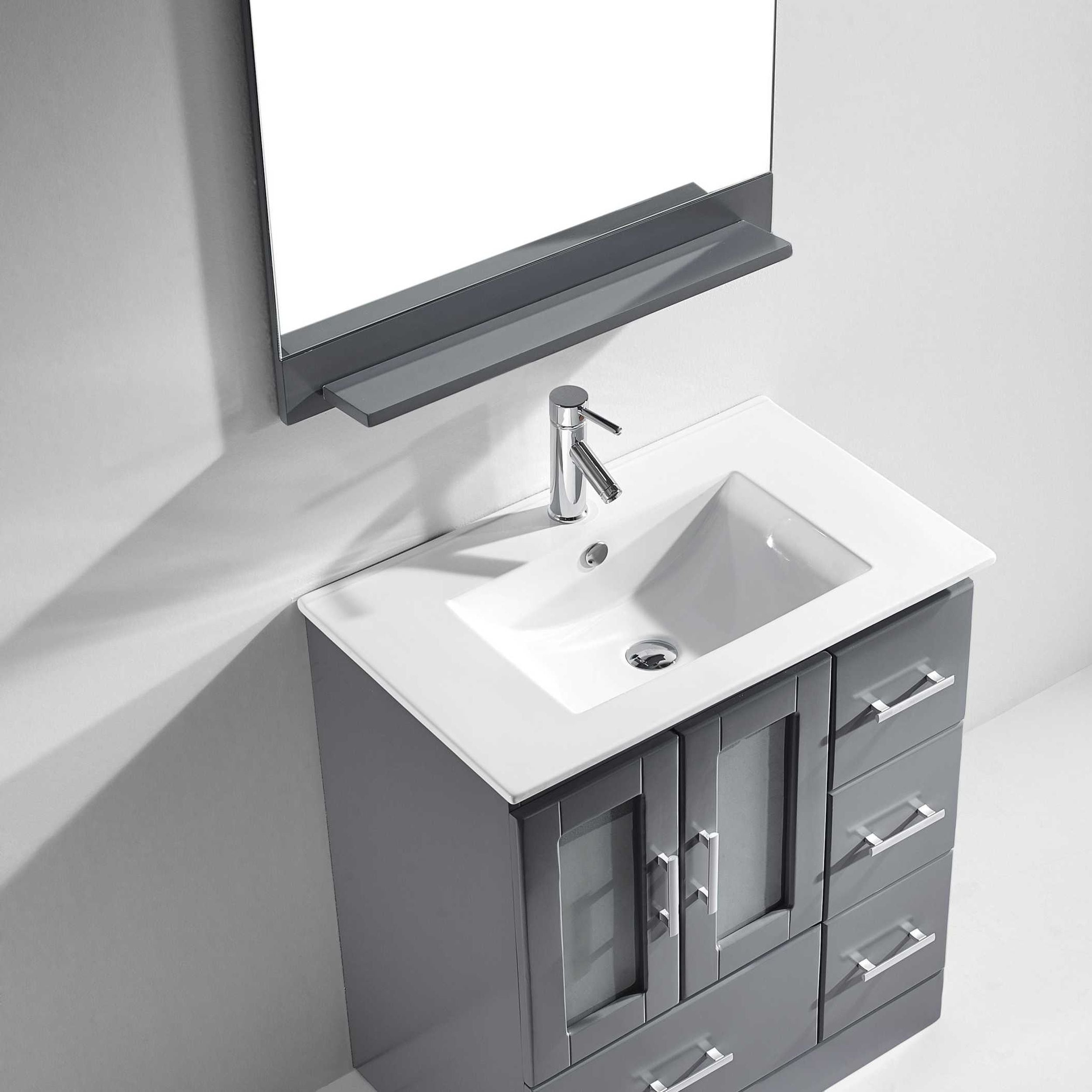 Virtu USA Zola 30-inch Single Bathroom Vanity Set with Faucet and ...