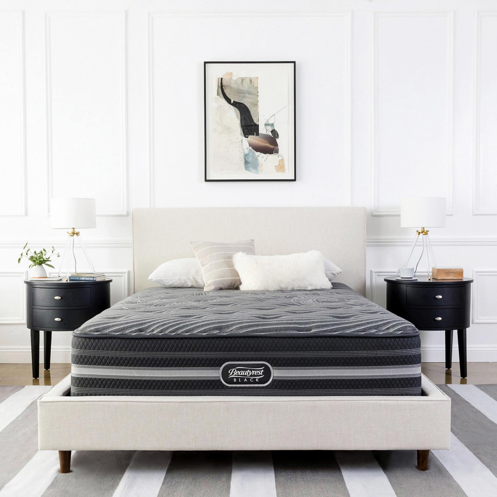 Beautyrest Black Natasha Plush Pillow Top Queen Size Mattress Set Free Shipping Today 11872092