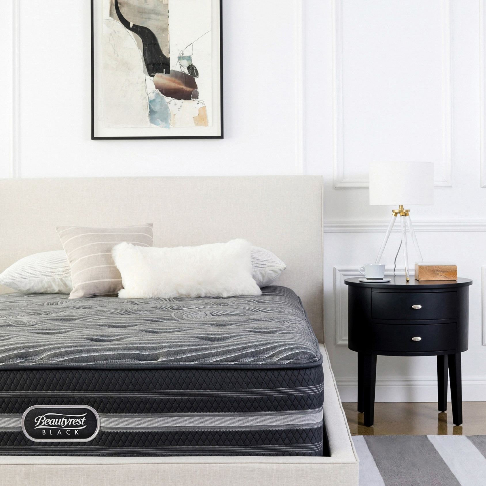 Shop Beautyrest Desiree Black Queen Size Luxury Firm Mattress Set   Free  Shipping Today   Overstock.com   11876658