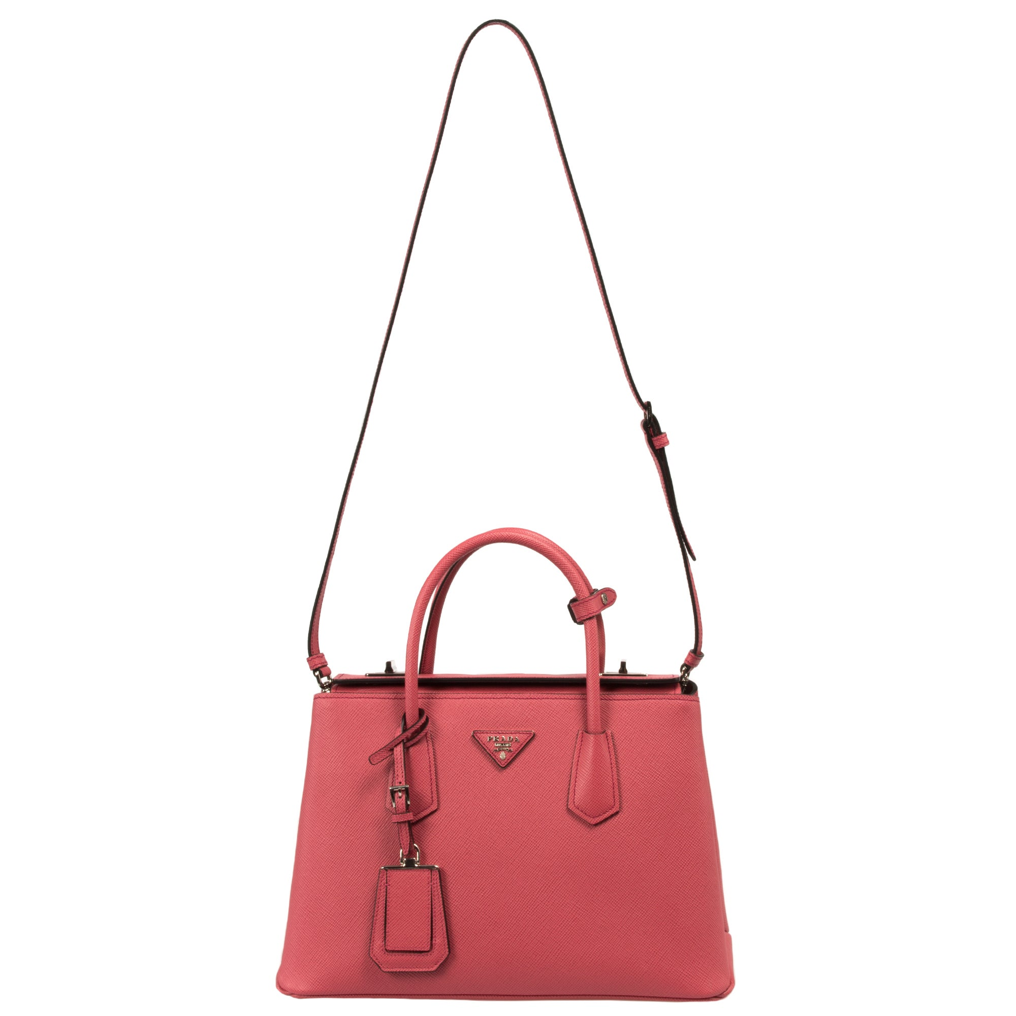 3bd999391e7a ... where can i buy shop prada bn2823 2a4a f060m saffiano cuir leather  tamaris pink tote bag