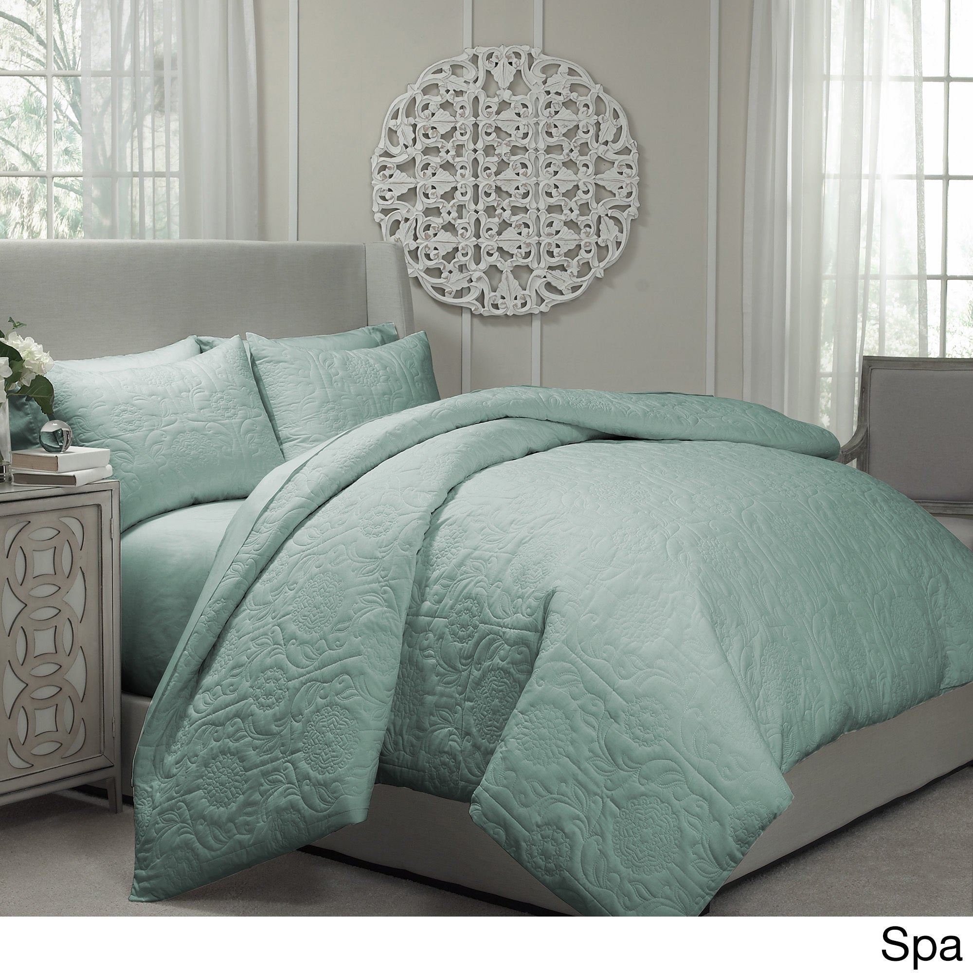 Awesome Gracewood Hollow Sutherland Quilted Coverlet And Duvet Cover Ensemble    Free Shipping Today   Overstock.com   18775602