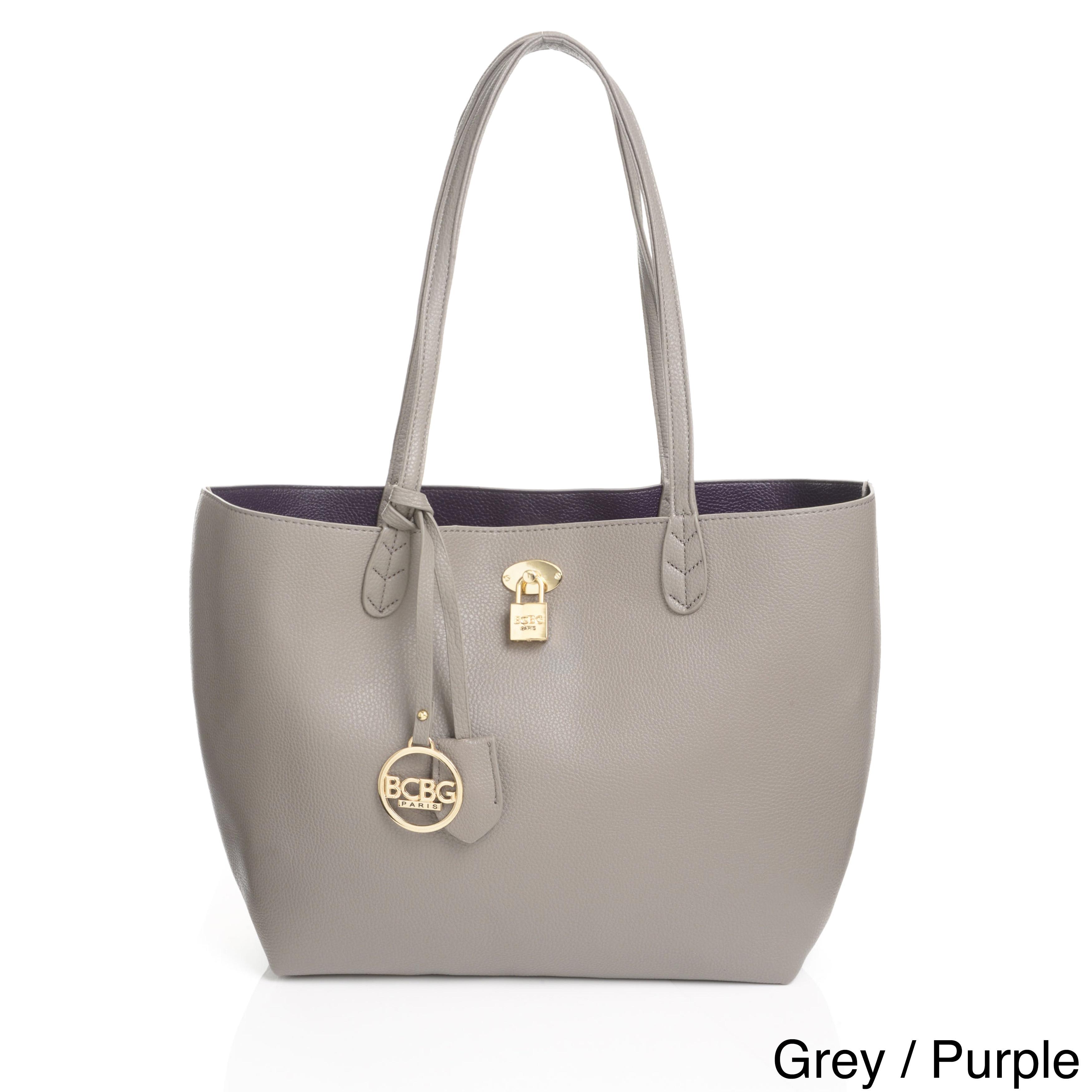 5523d959f040 BCBG Paris Reversible Lock Tote Bag