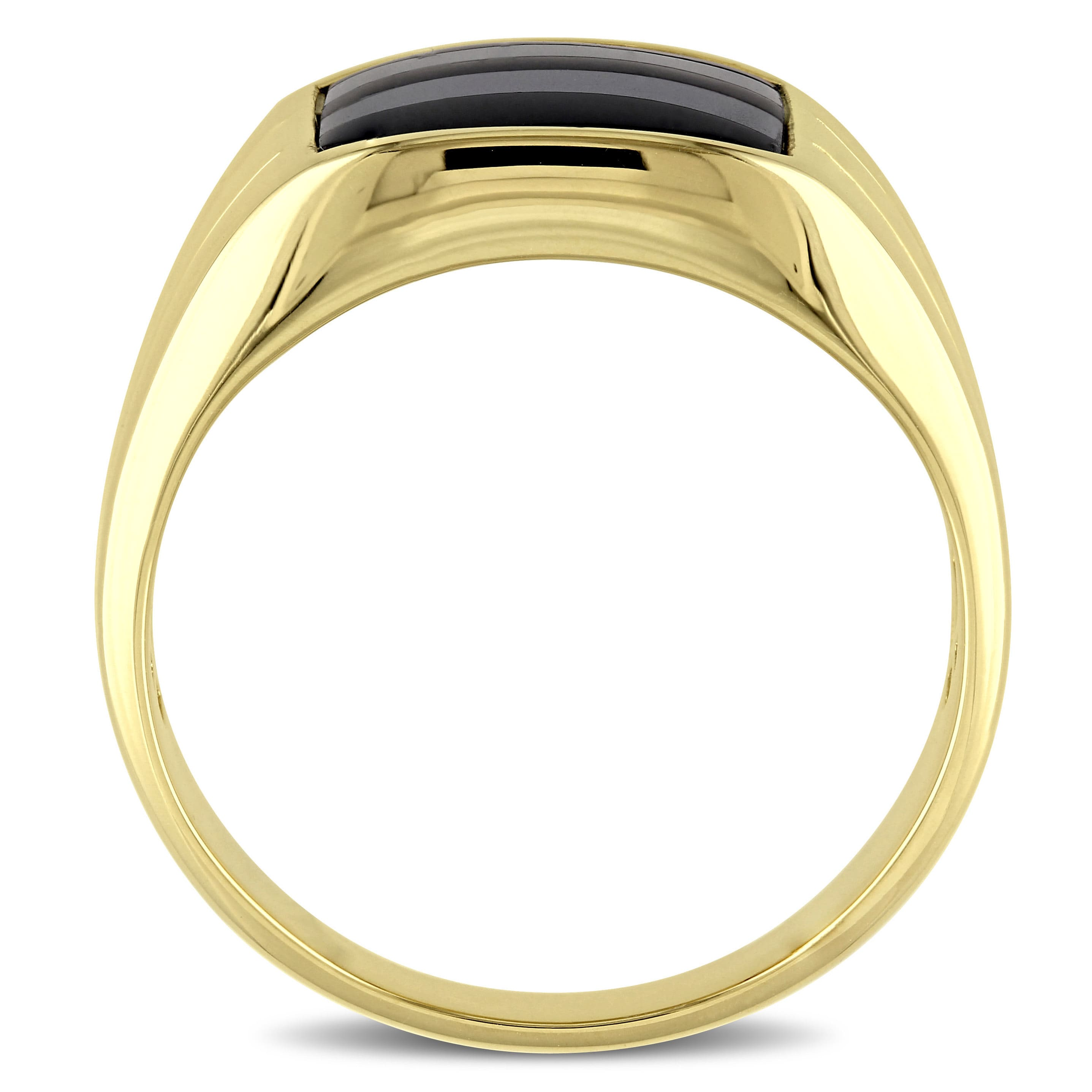 Miadora Yellow Plated Silver Black yx and Hematite Men s Ring