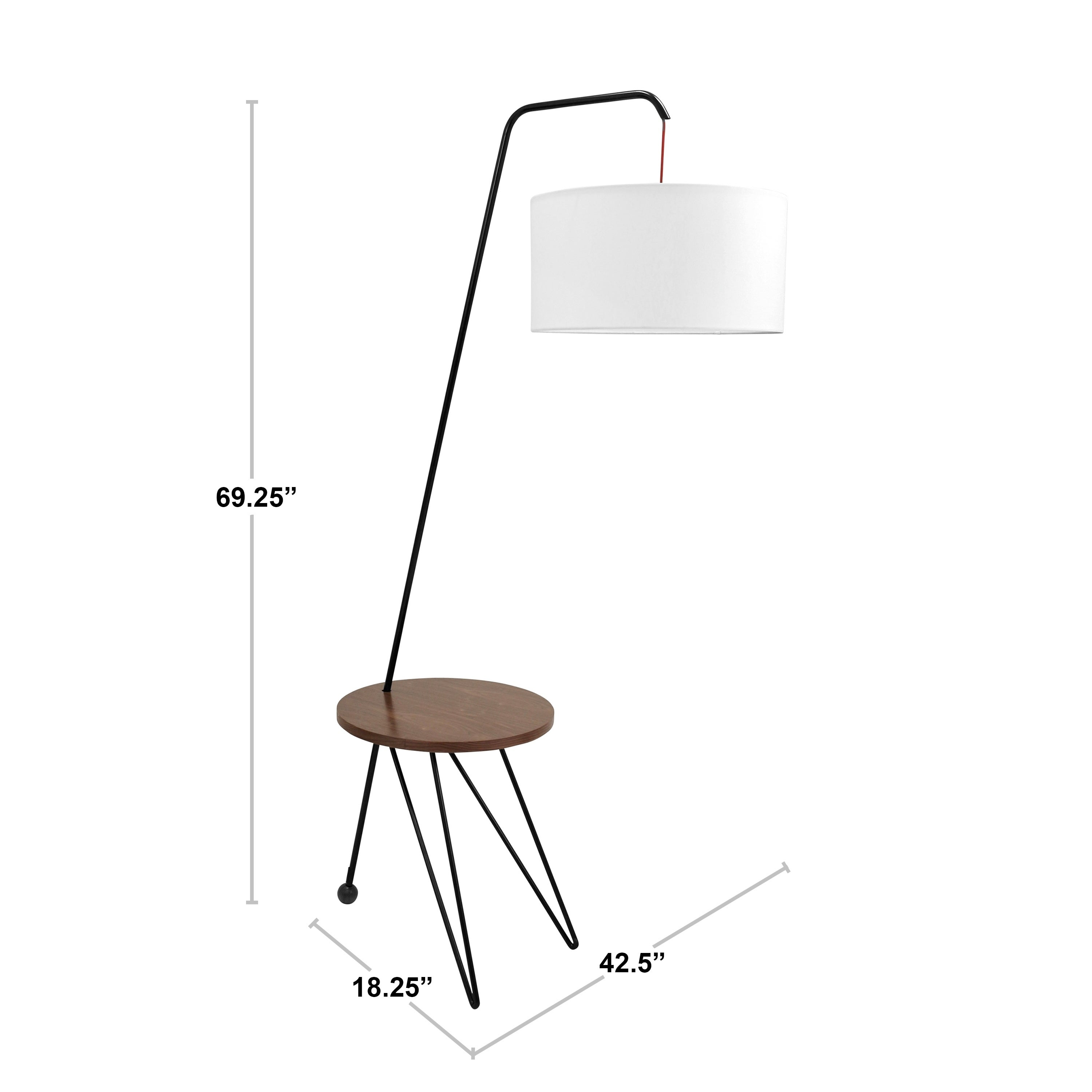 Stork Mid Century Modern Floor Lamp With Walnut Wood Accent Table On Free Shipping Today 11883780