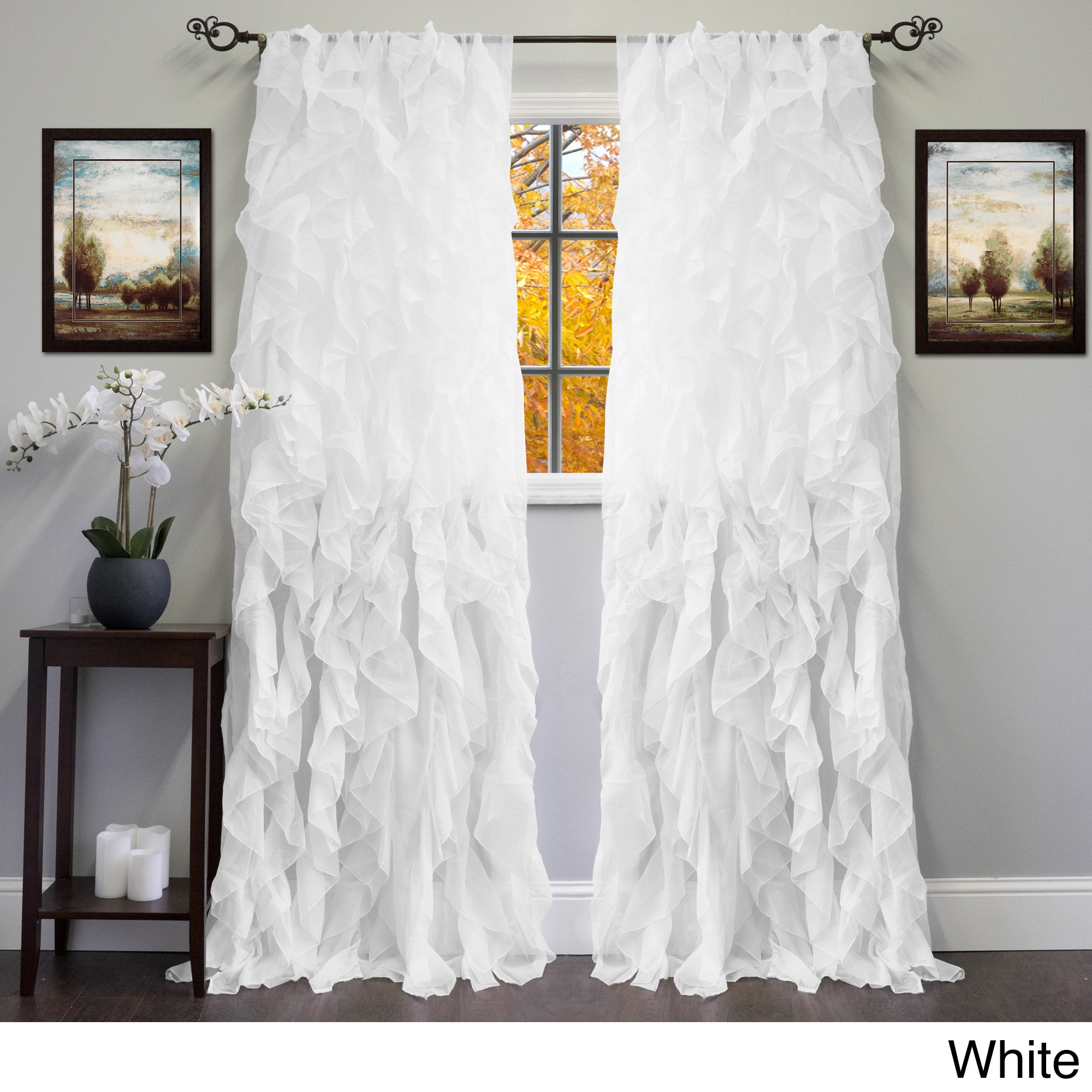 ombre waterfall pink panel ruffle curtain curtains