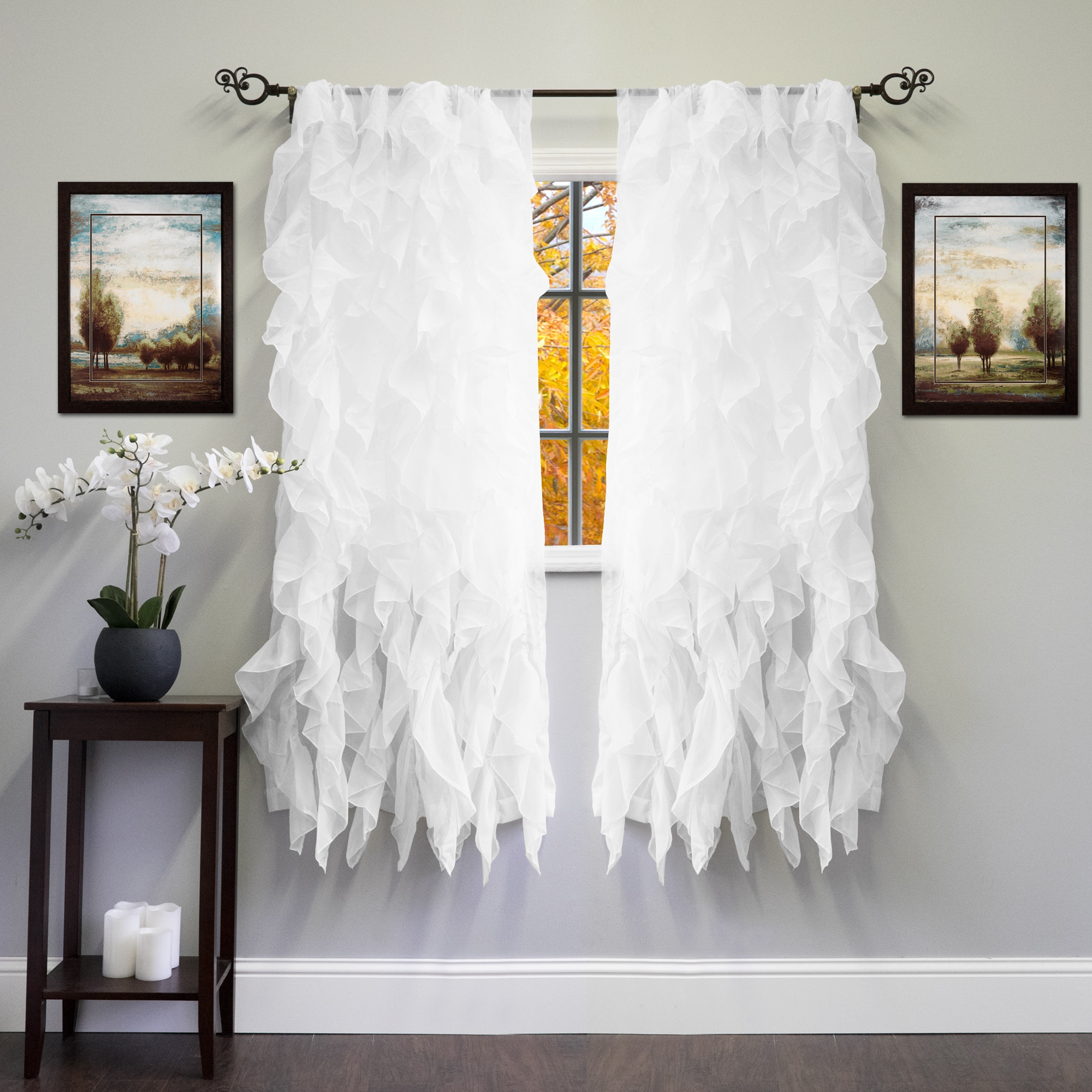 Shop Voile 50 X 63 Vertical Ruffle Tier Window Curtain Panel 50 X