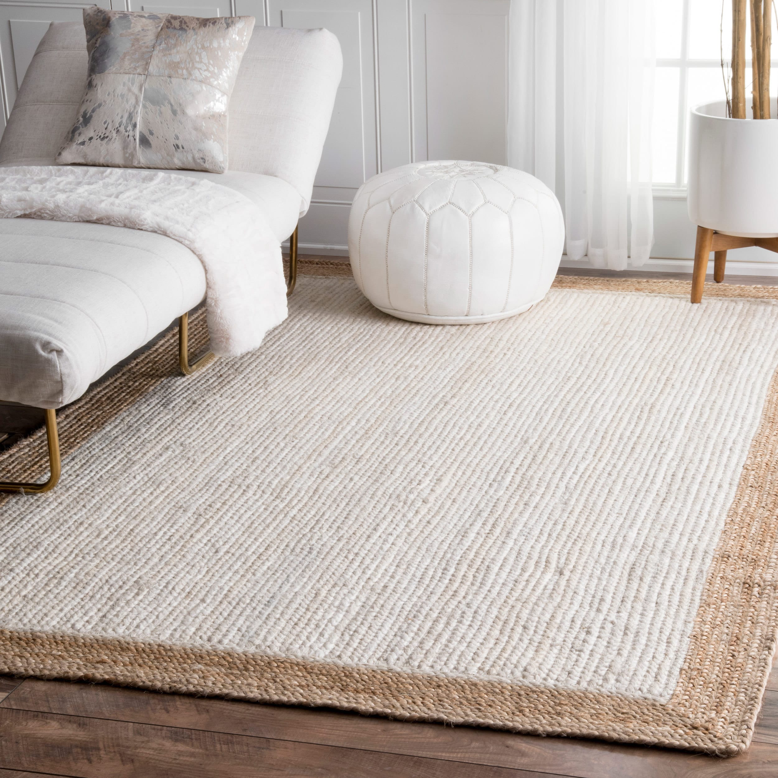 Shop The Gray Barn Cinch Buckle Braided Reversible White Jute Area ...