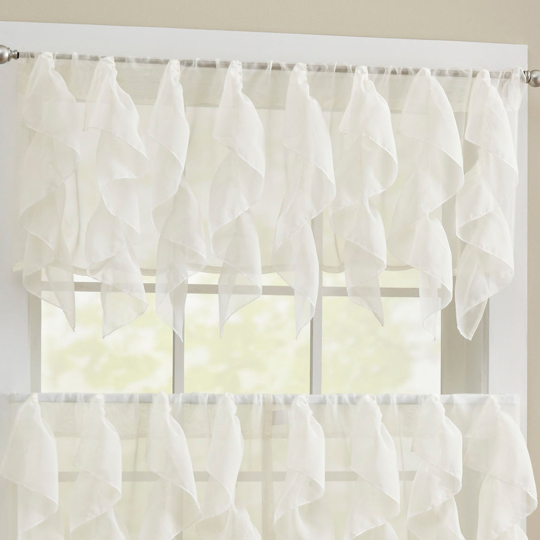 tiers tier and valerie straight sheer united valances products taupe valance swags curtain kitchen curtains macrame zoom