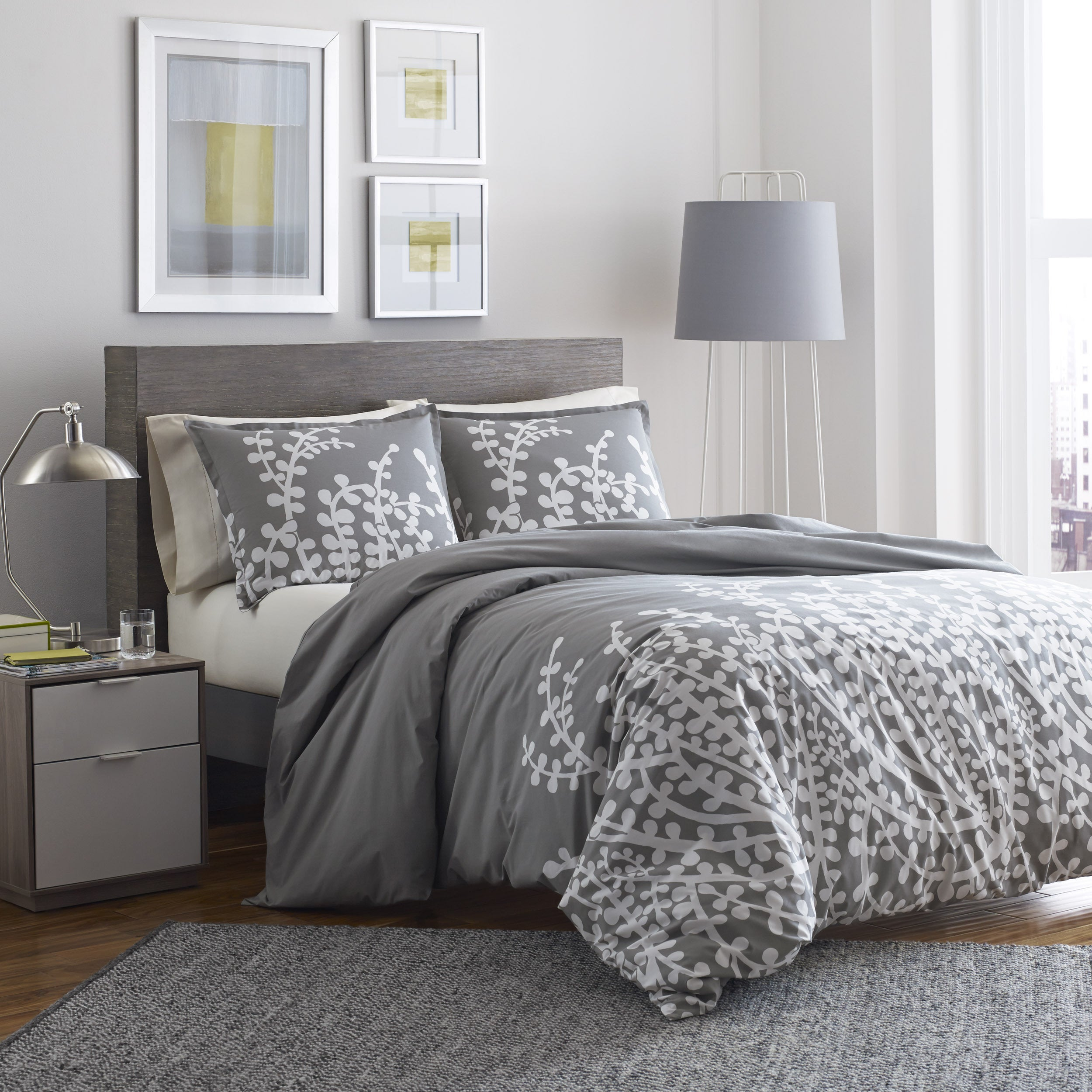 Shop copper grove collina grey branches printed 3 piece duvet cover set on sale free shipping today overstock com 19972877