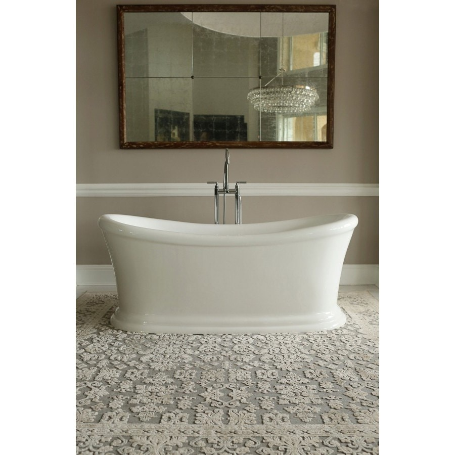 Shop Signature Bath White Acrylic Freestanding Tub - Free Shipping ...