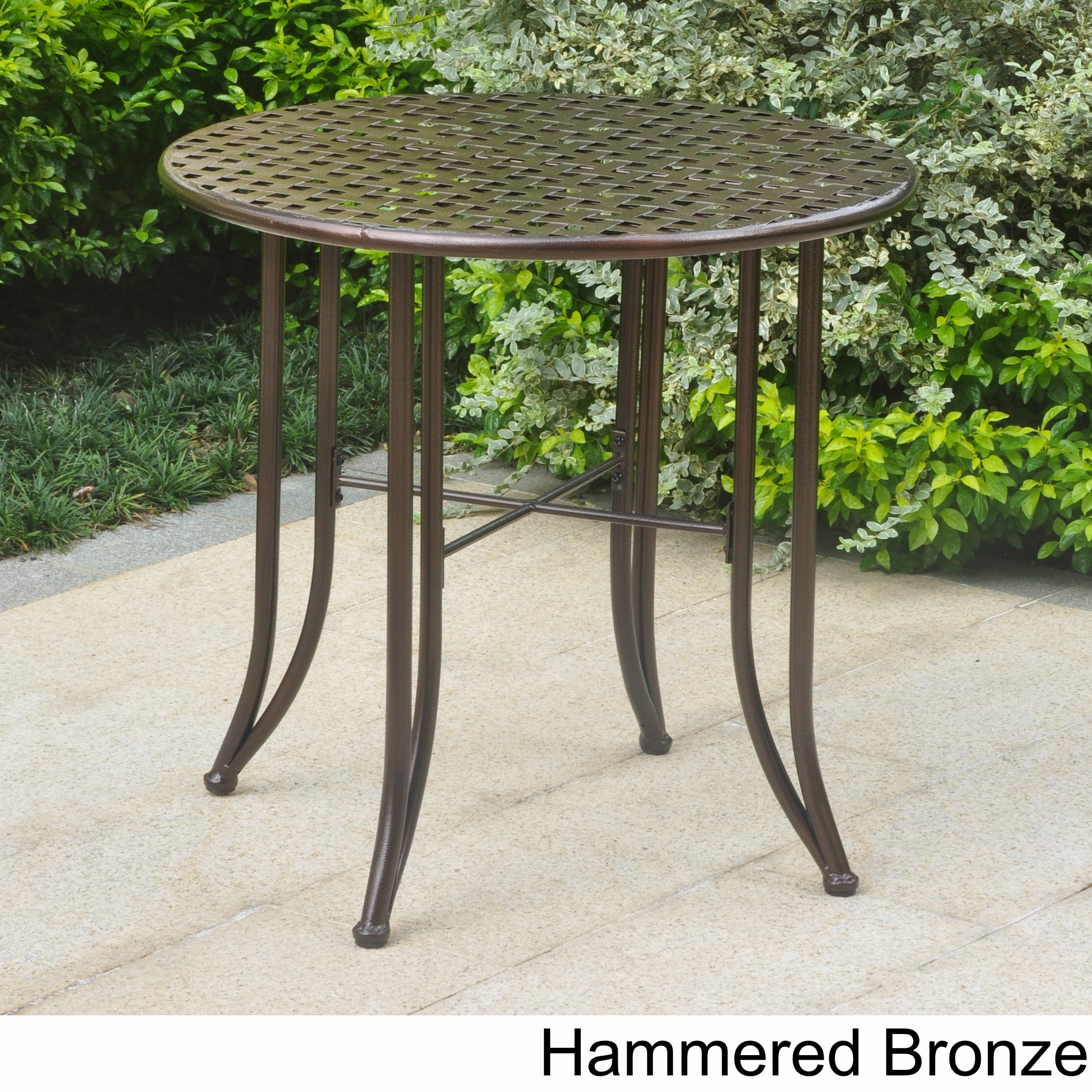 International Caravan Mandalay 30-inch Iron Patio Bistro Table ...