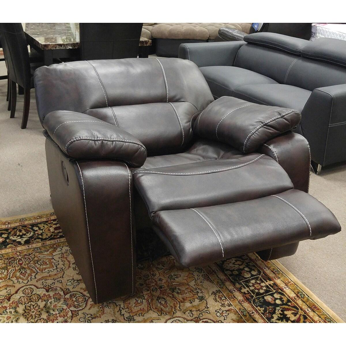 Shop Silverado Modern Printed Leather Reclining Chair