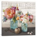 iCanvas French Cottage Bouquet III by Danhui Nai Canvas Print