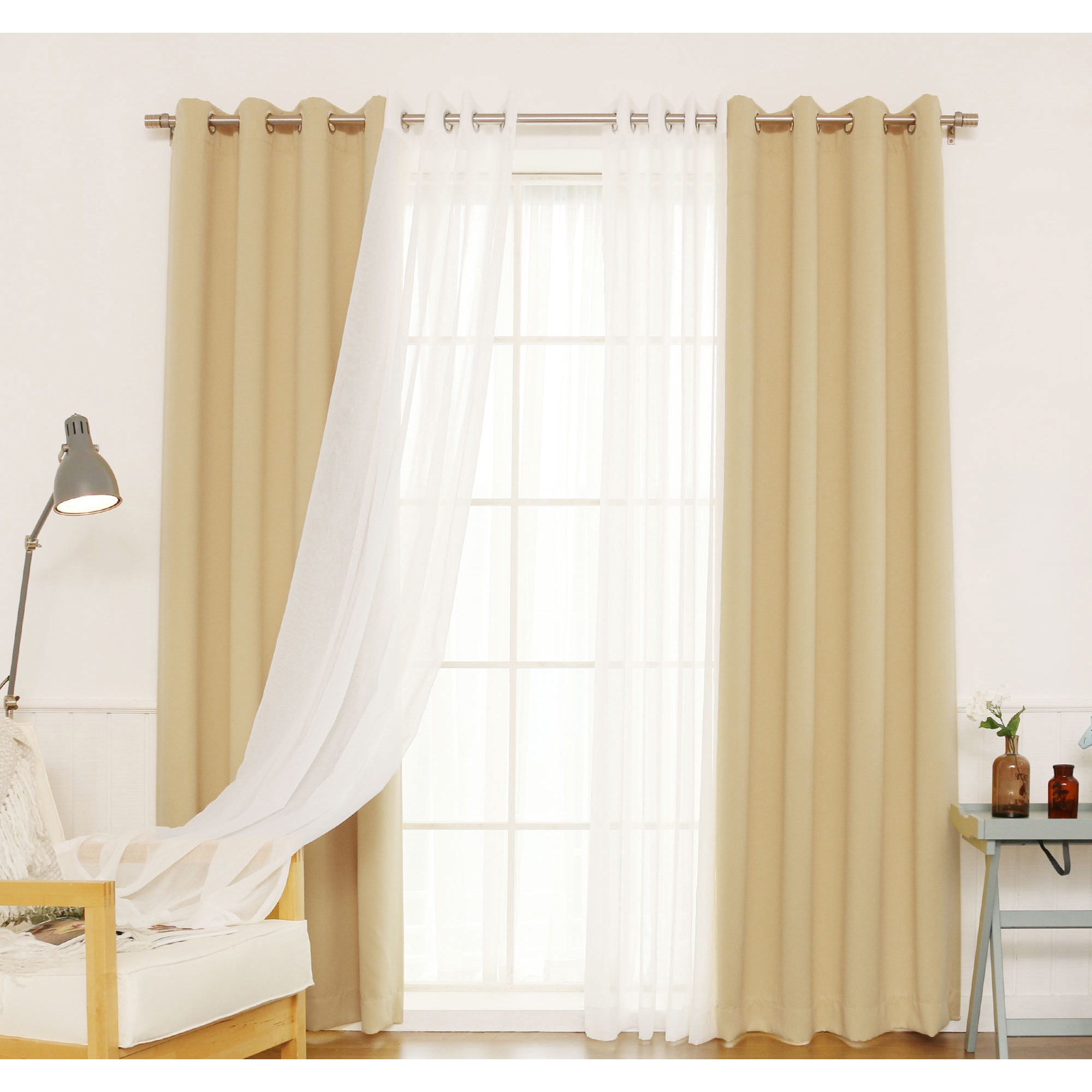 Shop Aurora Home MIX & MATCH CURTAINS Blackout and Muji Sheer 84 ...