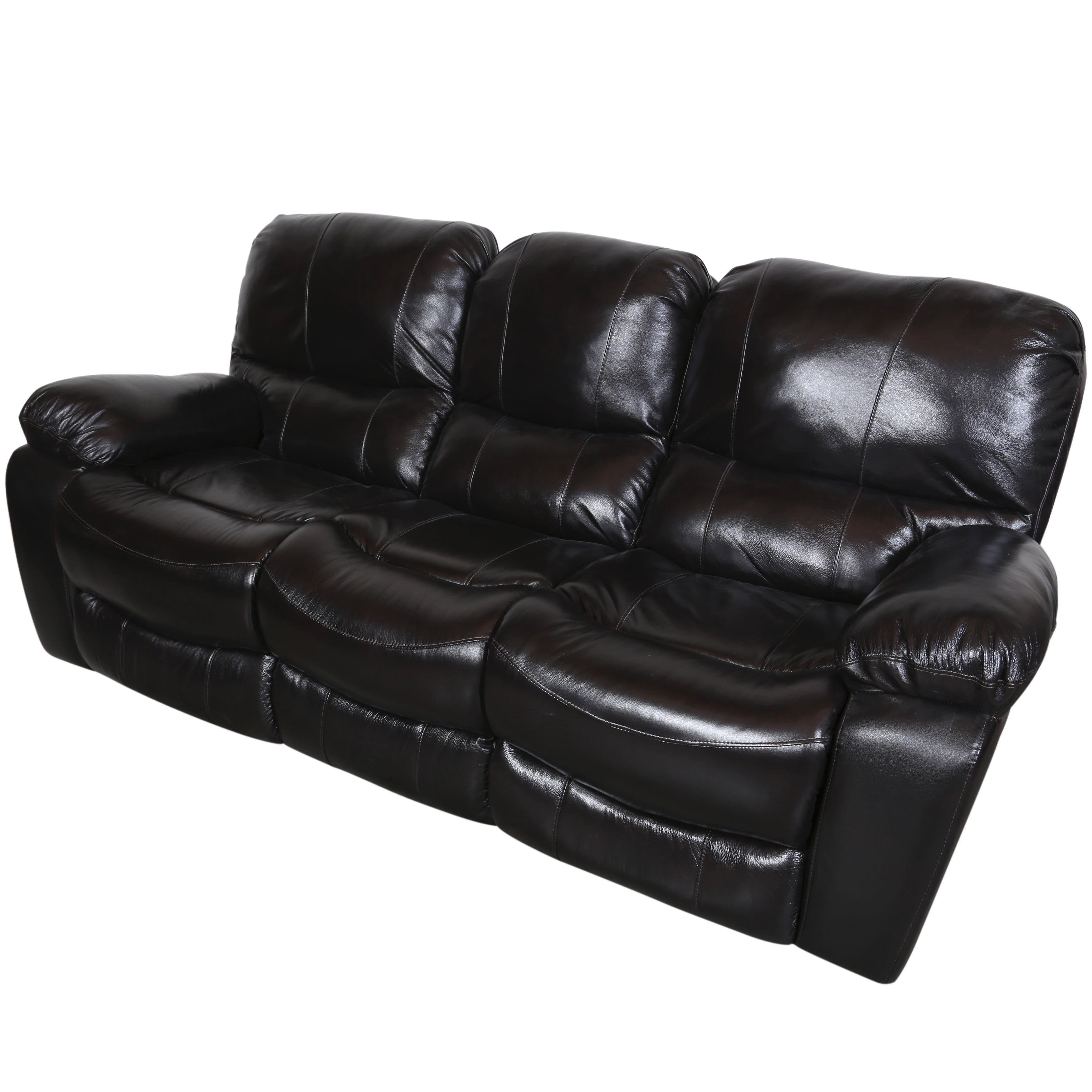 Porter Ramsey Black Cherry Top Grain Leather Dual Reclining Sofa Free Shipping Today 11893564