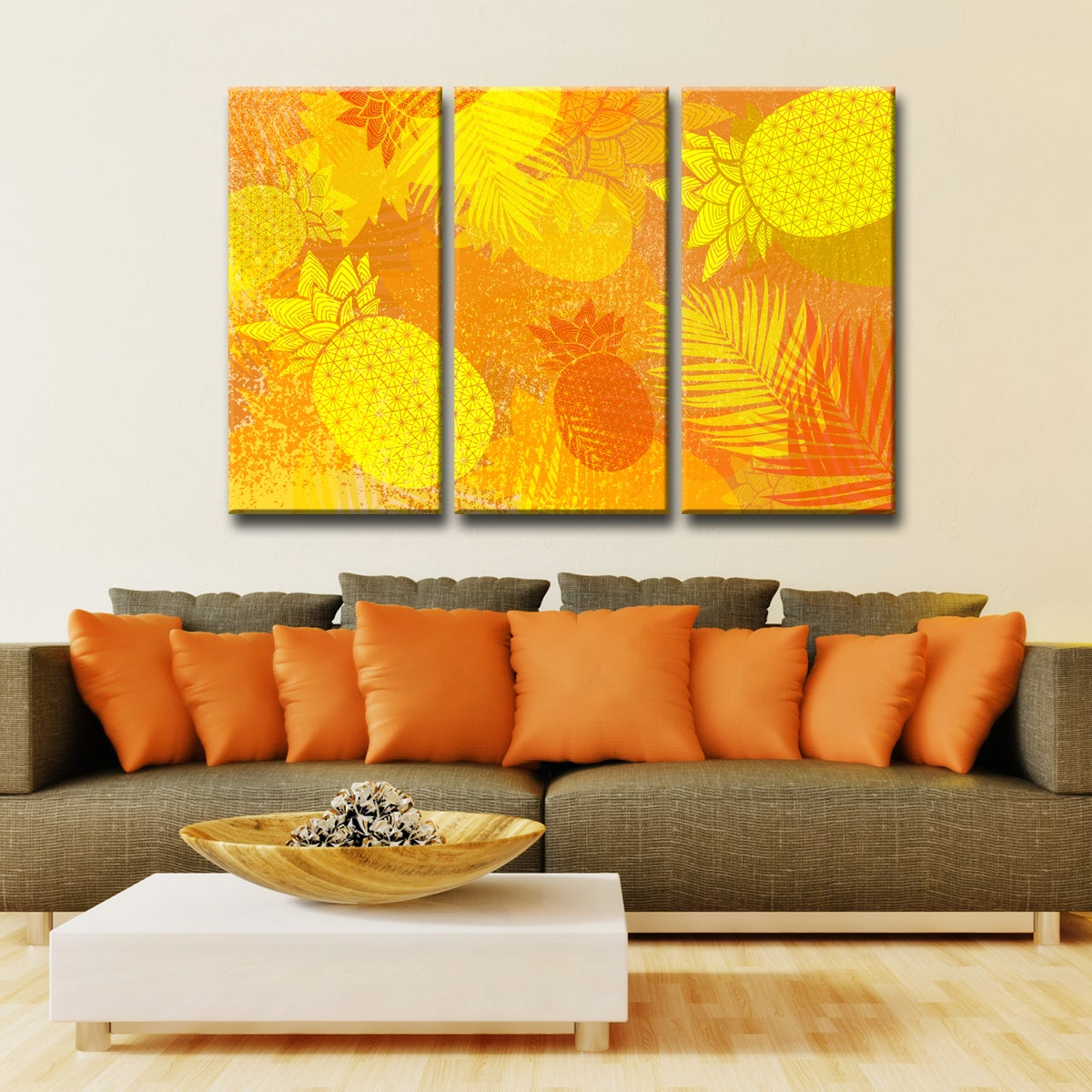 Ready2HangArt™ \'Pineapple Party\' 3-PC Wrapped Canvas Art Set - Free ...
