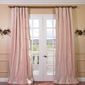 Exclusive Fabrics Light Pink/Cream Stripe Faux Silk Taffeta Curtain Panel 84-inch(As Is Item)