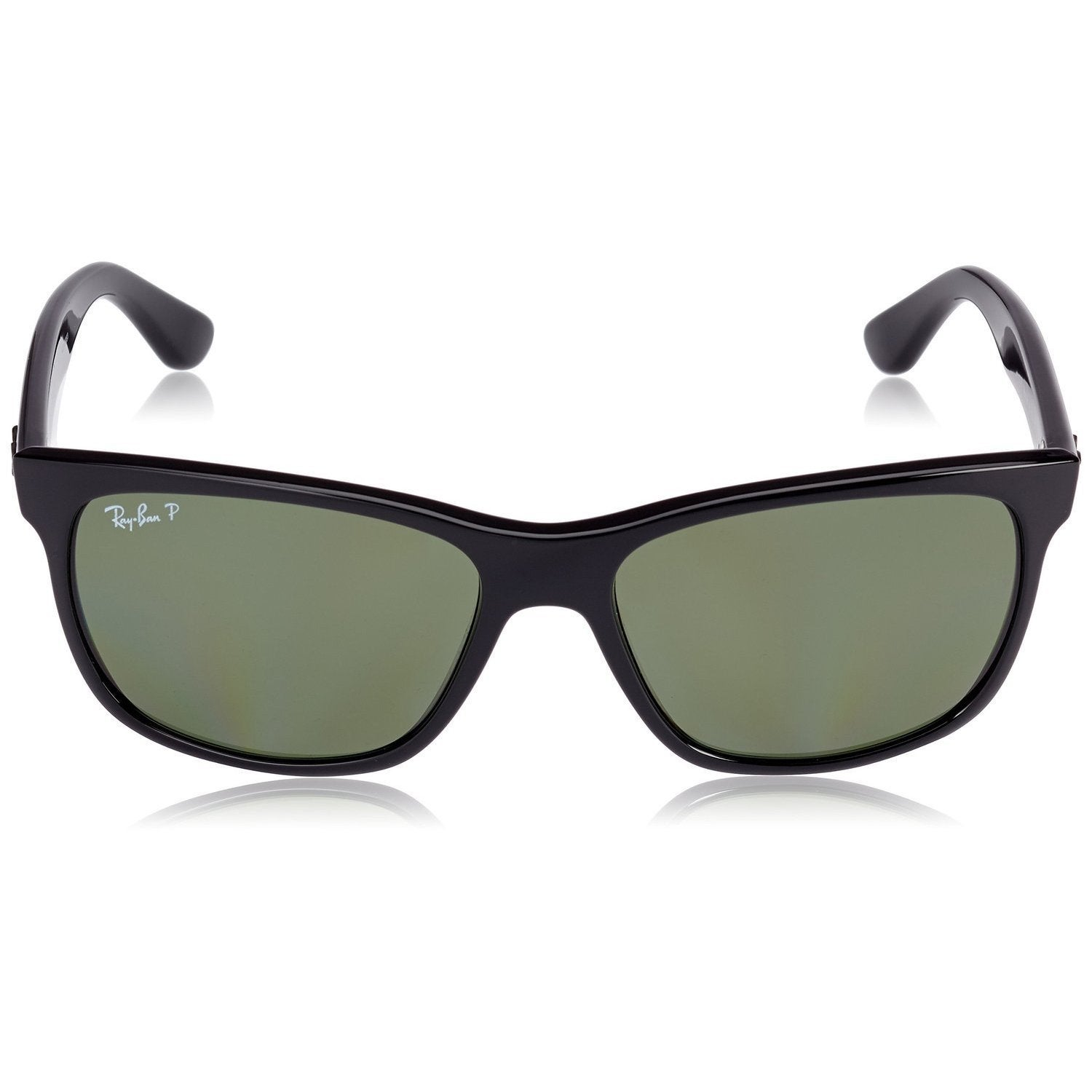 e7c92a6e1c Shop Ray-Ban RB4181 601 9A Black Frame Polarized Green 57mm Lens Sunglasses  - Free Shipping Today - Overstock - 11897486