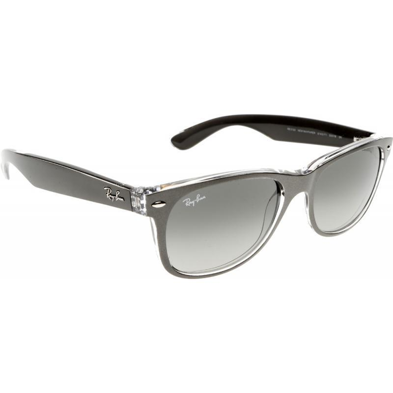 8e98e129c7 Shop Ray-Ban RB2132 614371 New Wayfarer Color Mix Gunmetal Clear Frame Grey  Gradient 52mm Lens Sunglasses - Free Shipping Today - Overstock - 11897546