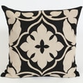 Wanderloot 20-inch Handmade Agra Linen Applique Accent Throw Pillow Cover (India)