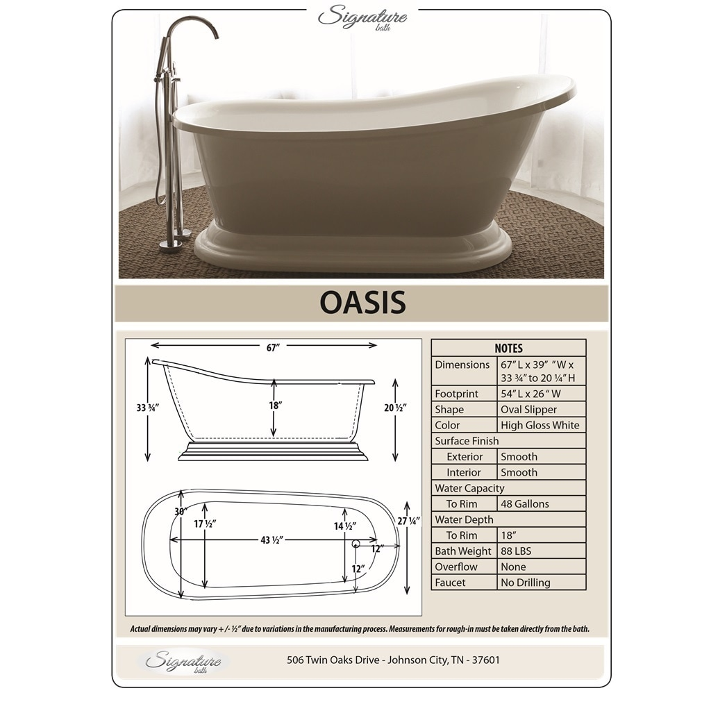Signature Bath Freestanding Tub - Free Shipping Today - Overstock ...