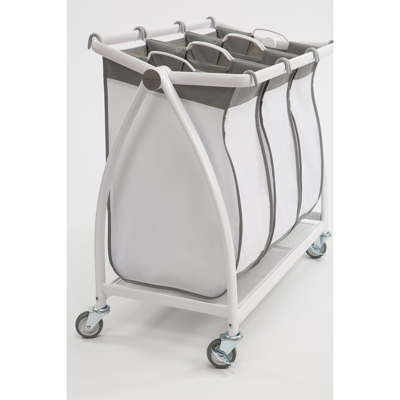 Seville Classics Snow White Polyester 3 Bag Tilt Laundry Sorter Free Shipping Today 18795116