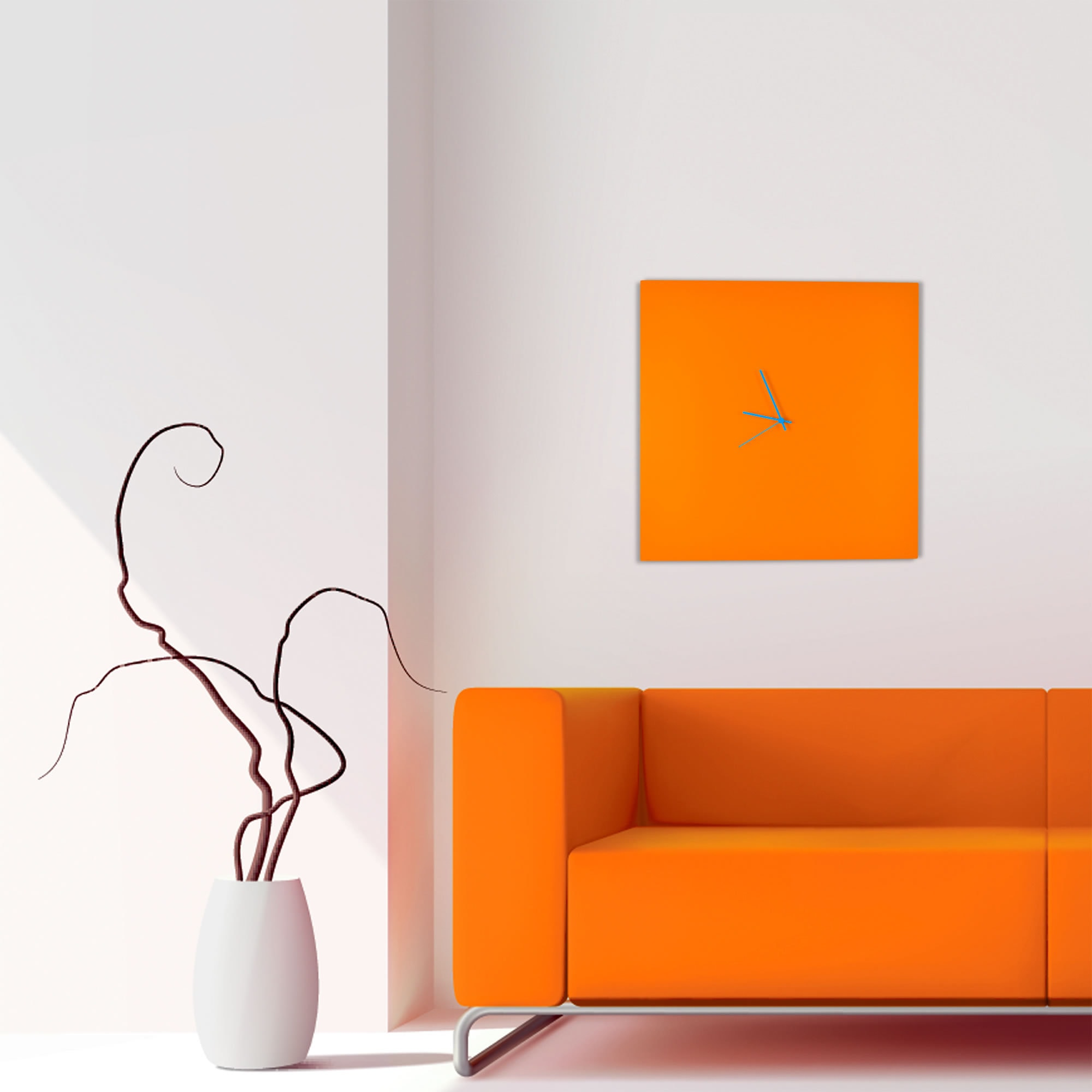 Orange Wall Decor purplebirdblog