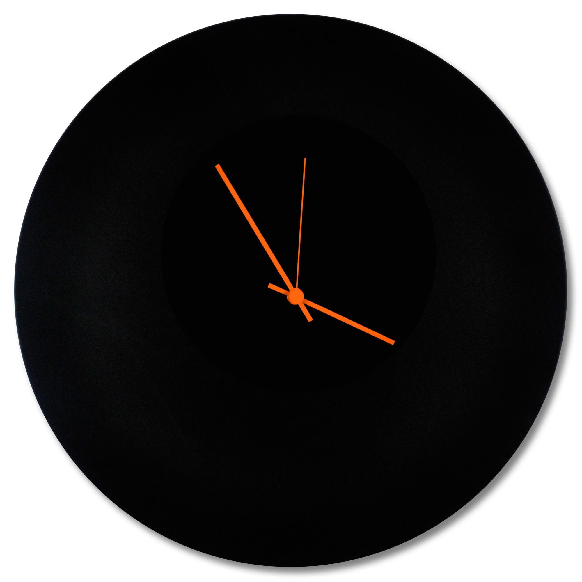 Shop Adam Schwoeppe U0027Blackout Circle Clocku0027 Minimalist Modern Black Wall  Decor   On Sale   Free Shipping Today   Overstock.com   11901537