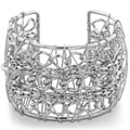 Adoriana Chunky Multiple Strand Chain 2-inch Wide Wire Wrapped Cuff Bracelet (7 Inches)