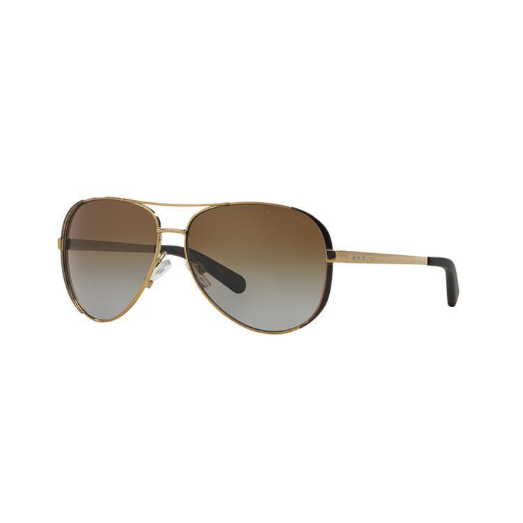 5a226d8667 Shop Michael Kors Women s Chelsea MK 5004 10166E White Gold Fade Metal  Aviator Sunglasses - Free Shipping Today - Overstock - 11903498