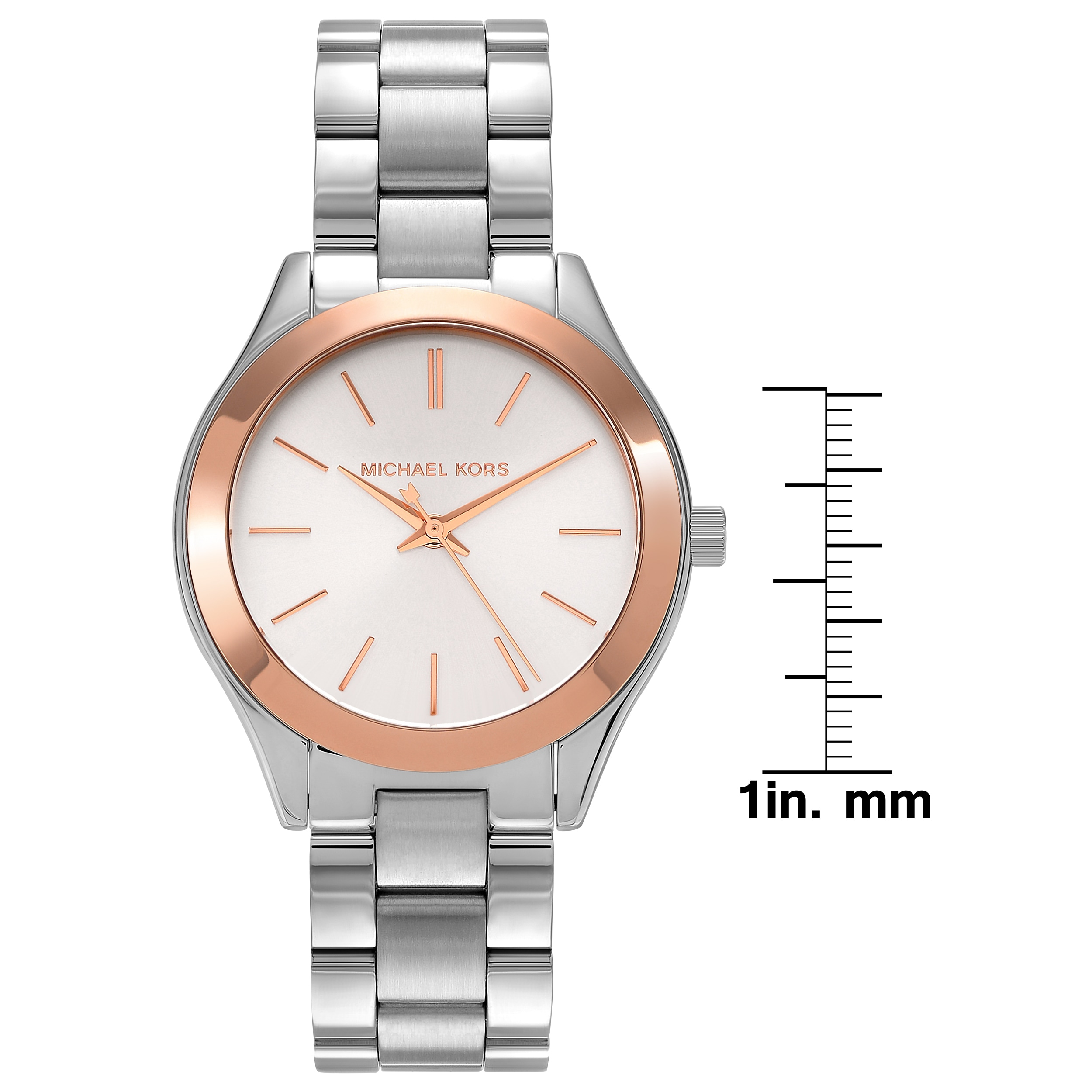 b708e67048d Shop Michael Kors Women s MK3514  Mini Slim Runway  Stainless Steel Watch - Free  Shipping Today - Overstock - 11903605