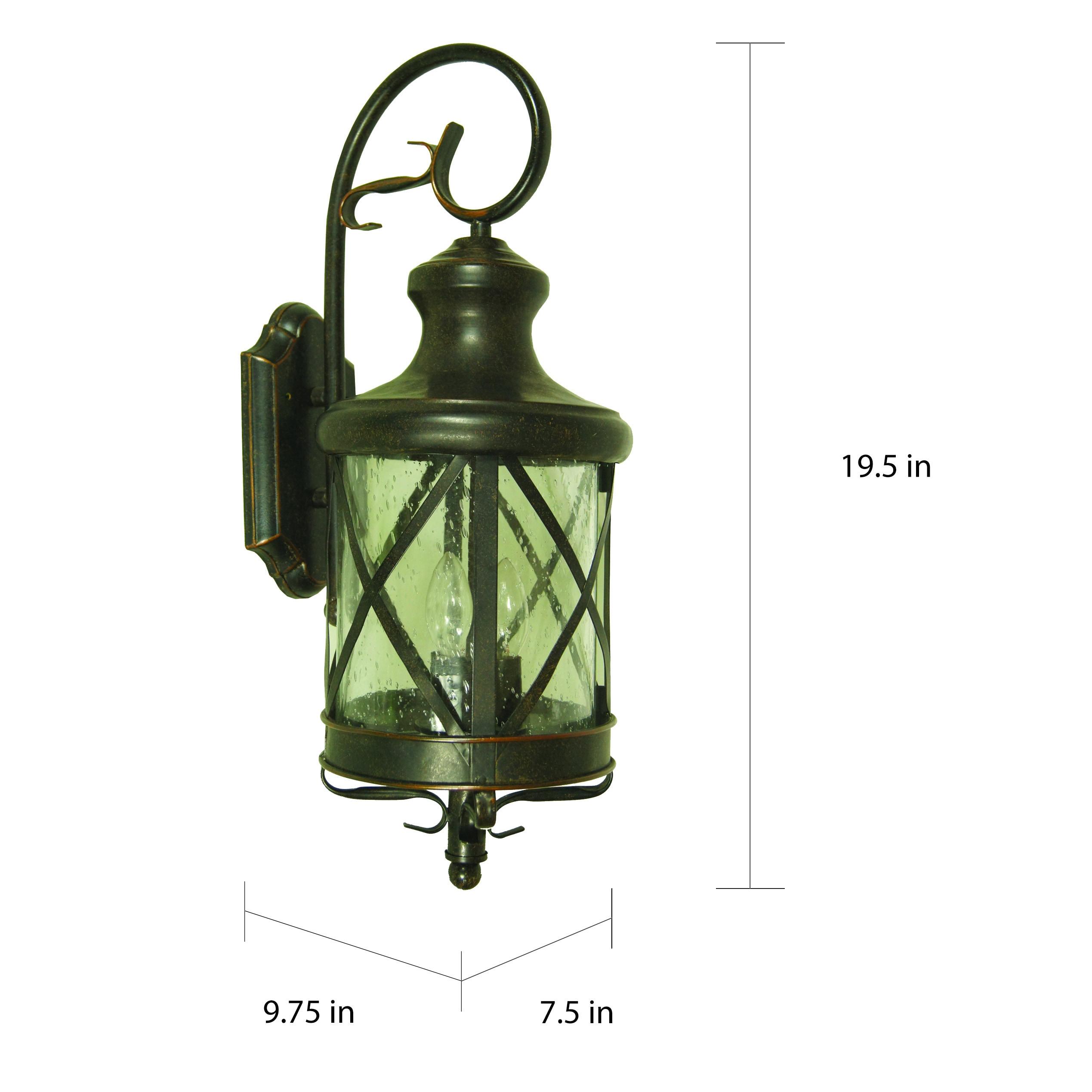 Shop Y-Decor Taysom 2 Light Exterior Lighting in Oil Rubbed Bronze ...