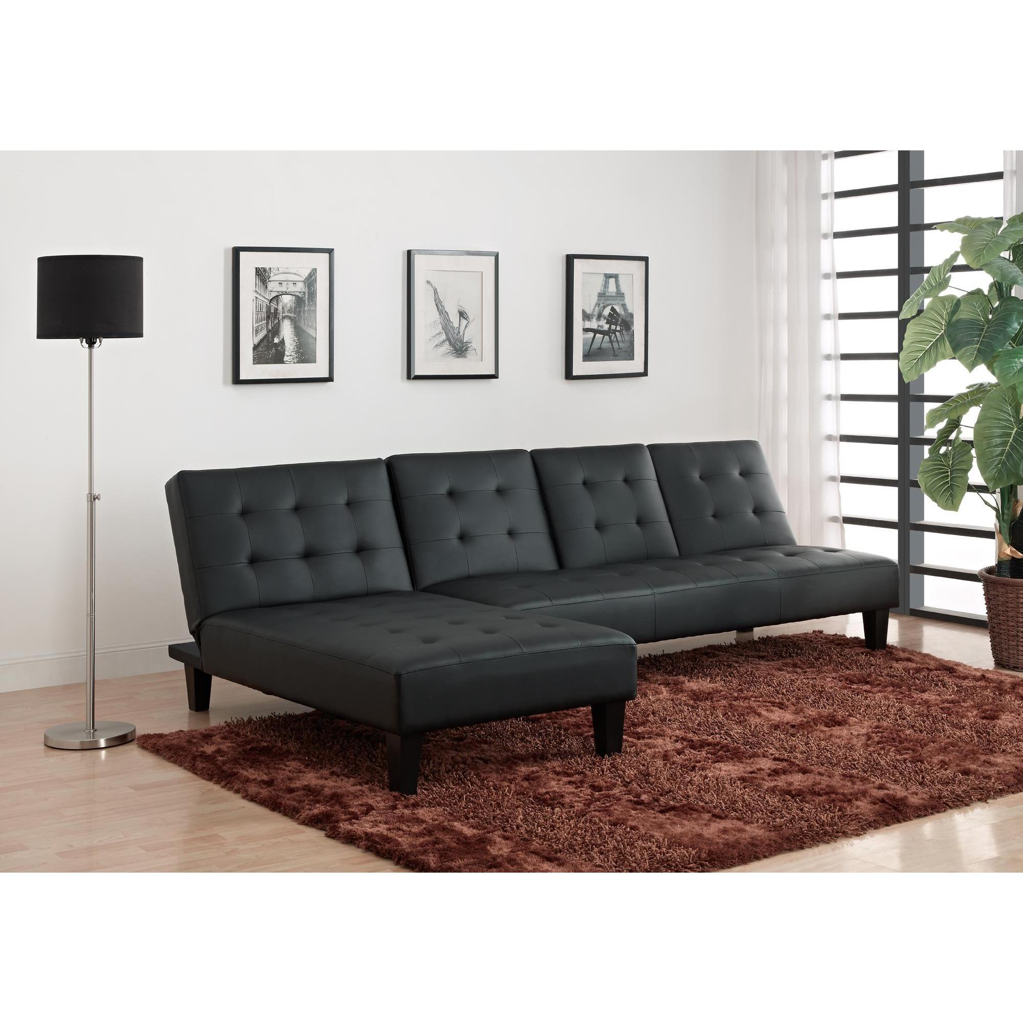 DHP Julia Black Chaise Lounger Free Shipping Today Overstock
