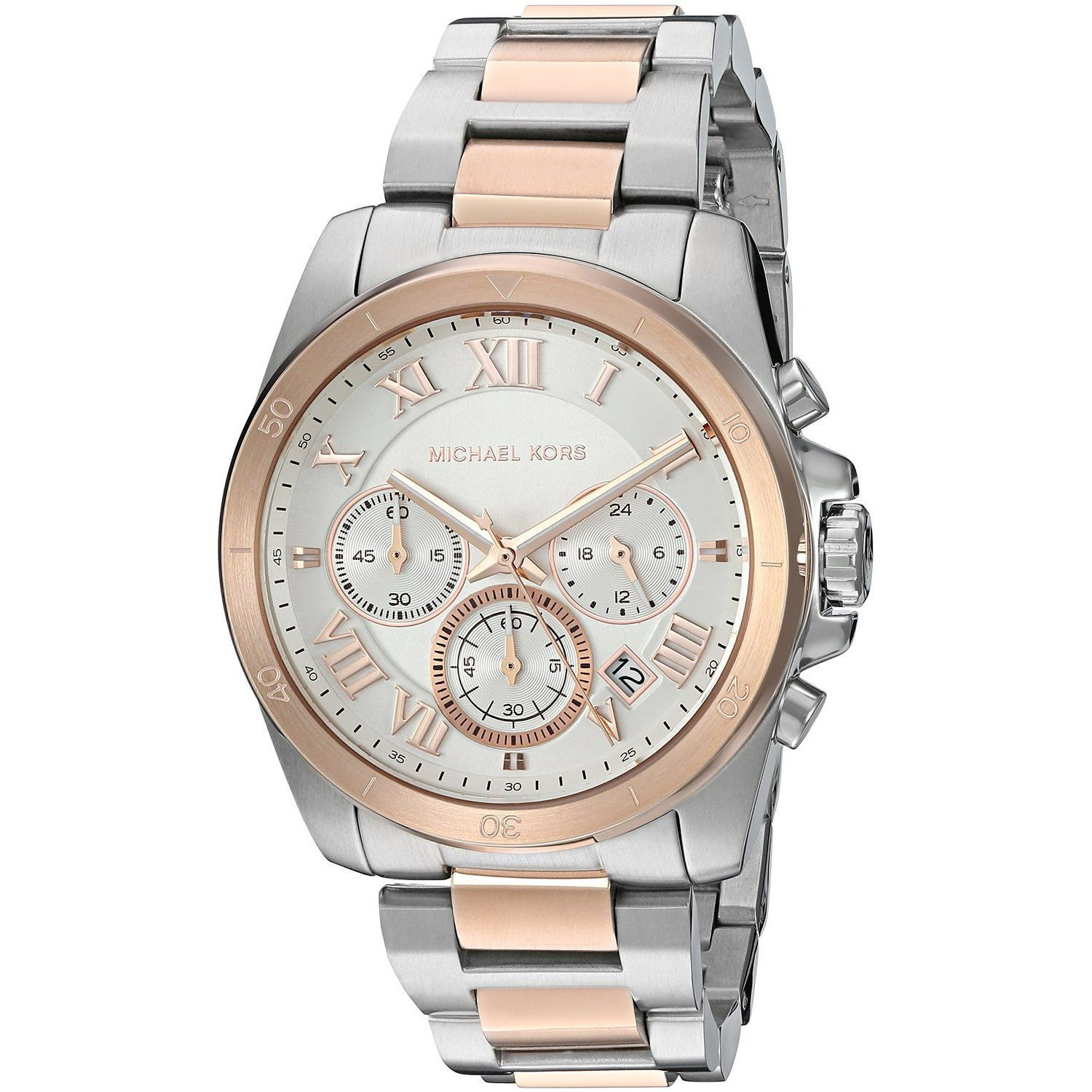 a1251a317968 Shop Michael Kors Women s MK6368  Brecken  Chronograph Two-Tone Stainless  Steel Watch - Free Shipping Today - Overstock - 11904196