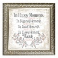"""In Happy Moments"" Inspirational Moments Framed Art"
