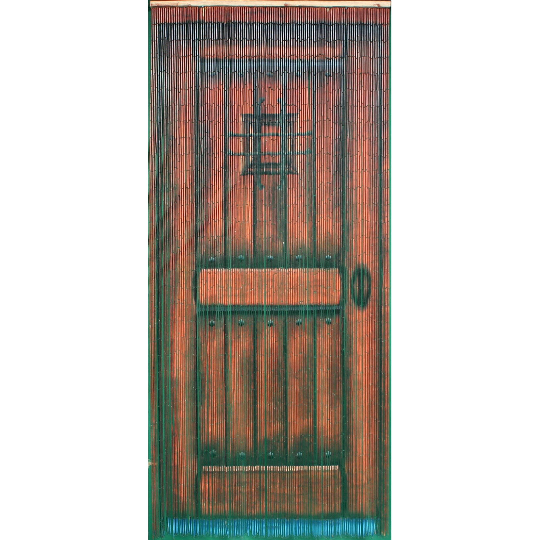 shop handmade brown wood door 125 strands curtain (vietnam) - free