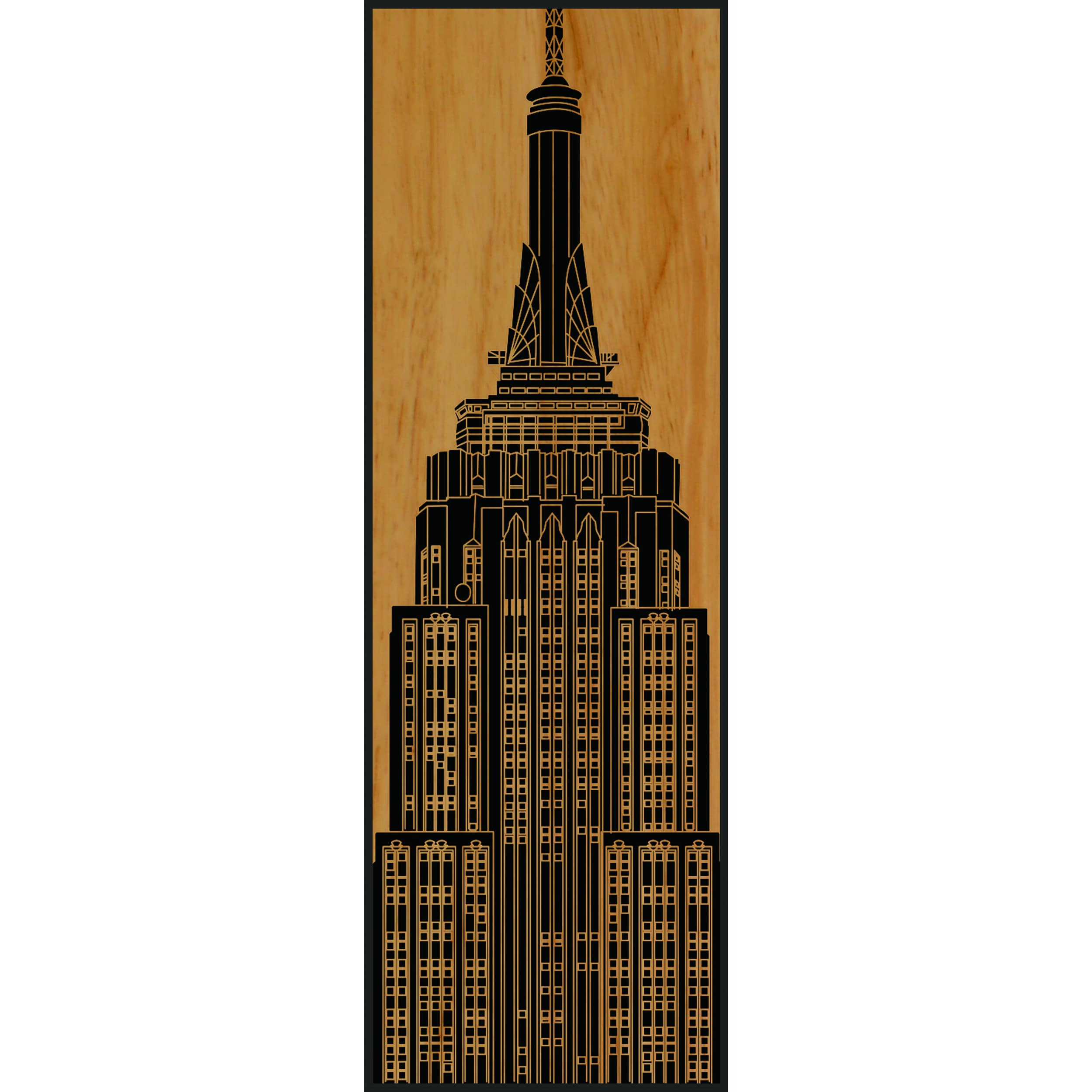 Shop Benjamin Parker Empire State Building 16 x 48 inch Wood