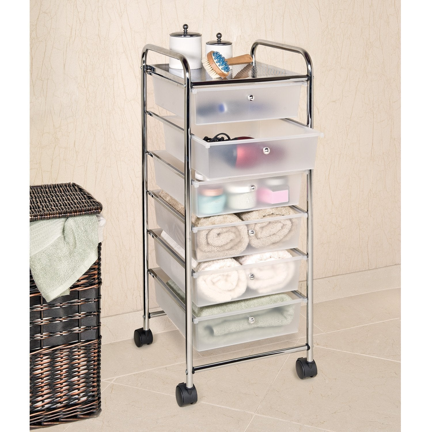 drawers bin unique dao boxes storage drawer baskets console amazing table white furniture walmart with